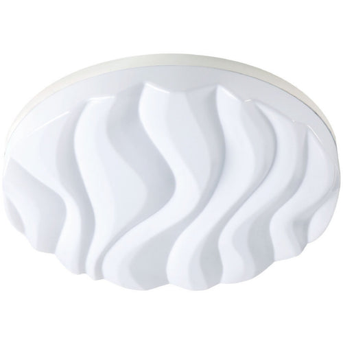 Lavender Mantra M5040R Arena Ceiling/Wall Light Large Round 60W LED IP44 , Tuneable 3000K-6500K, 4500lm, Dimmable via RF Remote Ctrl Matt White/White Acrylic, 3yrs Warranty