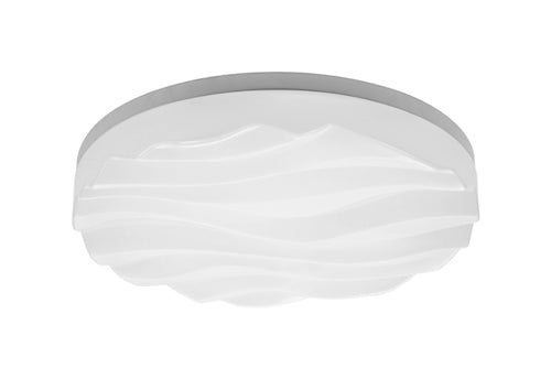 Lavender Mantra M5041R Arena Ceiling/Wall Light Medium Round 40W LED IP44, Tuneable 3000K-6500K, 3200lm, Dimmable via RF Remote Ctrl Matt White/White Acrylic, 3yrs Warranty