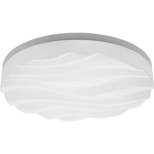 Lavender Mantra  M5041 Arena Ceiling/Wall Lights Medium Round 36W LED IP44 3000K, 3240lm, Matt White/White Acrylic, 3yrs Warranty