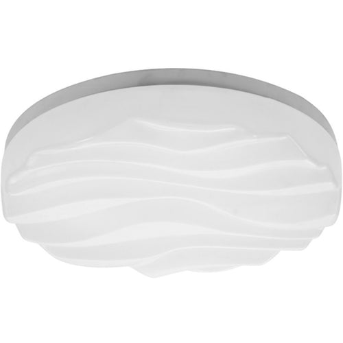 Lavender Mantra M5042R Arena Ceiling/Wall Light Small Round 24W LED IP44, Tuneable 3000K-6500K, 2160lm, Dimmable via RF Remote Ctrl Matt White/White Acrylic, 3yrs Warranty