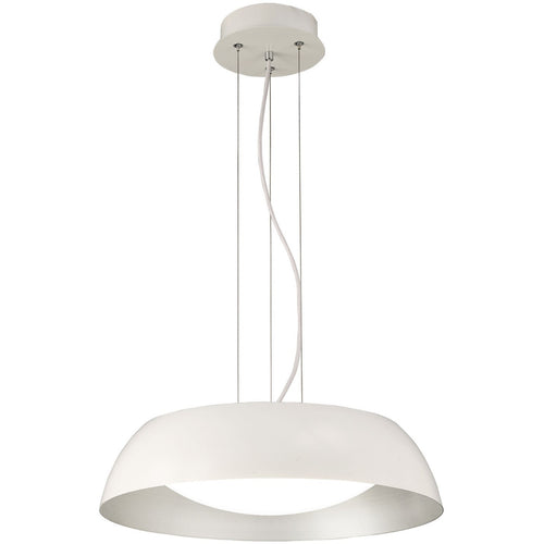 White Smoke Mantra  M4840 Argenta Pendant Small 18W LED 3000K, 1800lm, Matt White/Silver/White Acrylic, 3yrs Warranty