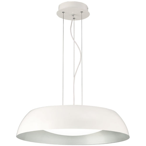 White Smoke Mantra  M4842 Argenta Pendant Large 30W LED 3000K, 3000lm, Matt White/Silver/White Acrylic, 3yrs Warranty