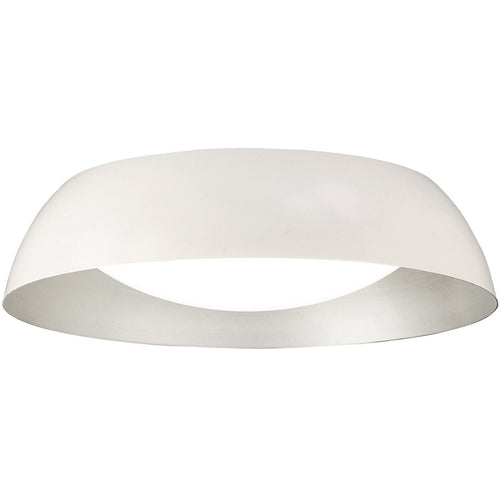 Antique White Mantra  M4847 Argenta Ceiling Small 18W LED 3000K, 1800lm, Matt White/Silver/White Acrylic, 3yrs Warranty