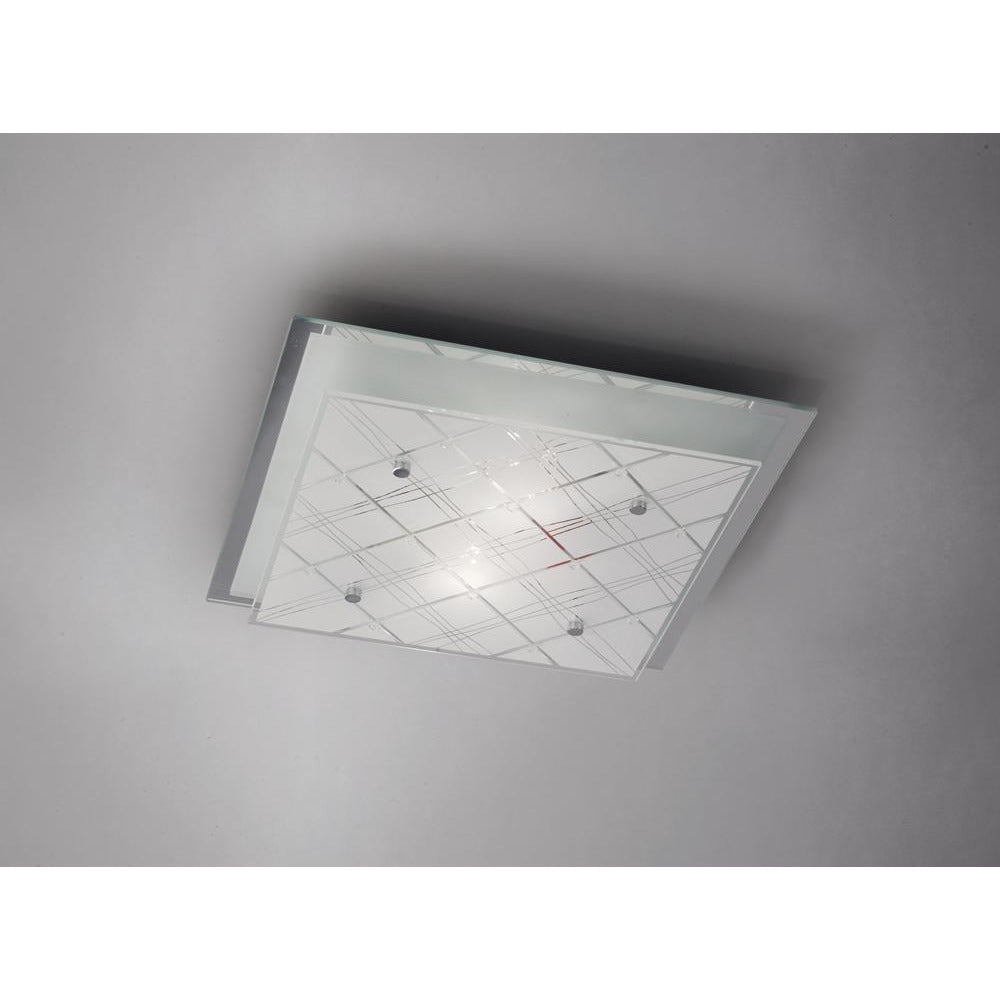 Gray Diyas IL31282 Aries Ceiling Square 2 Light Medium Polished Chrome/Glass diyas-il31282-aries-ceiling-square-2-light-medium-polished-chrome-glass Aries