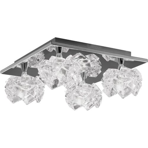 Gray Mantra M3954 Artic Ceiling 4 Light G9 Square, Polished Chrome