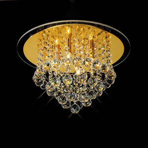 Goldenrod Diyas IL30208 Atla Ceiling 4 Light French Gold/Crystal
