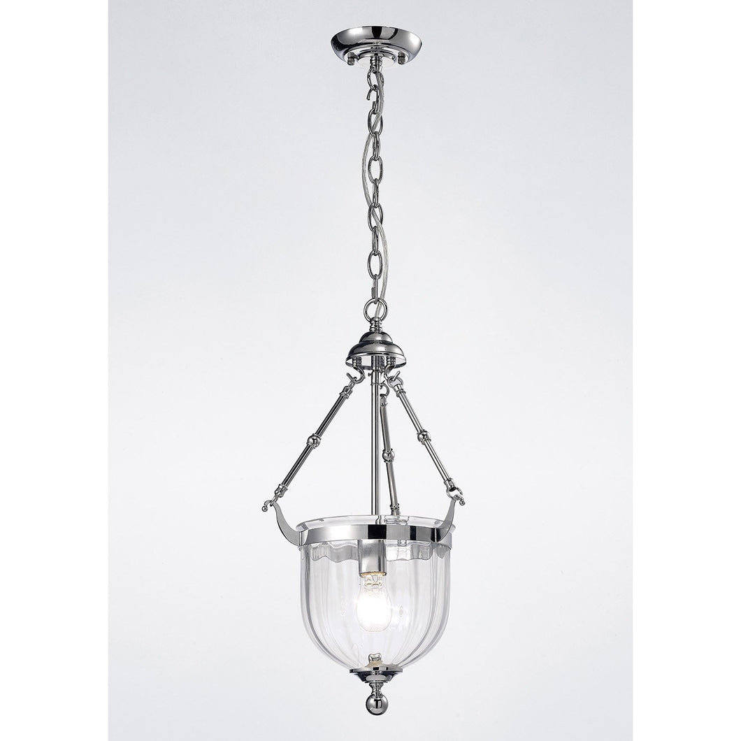 Lavender Diyas IL31071 Aubrey Pendant 1 Light Polished Chrome/Glass