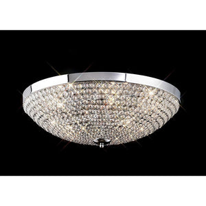 Rosy Brown Diyas IL30188 Ava Ceiling 6 Light Polished Chrome/Crystal.