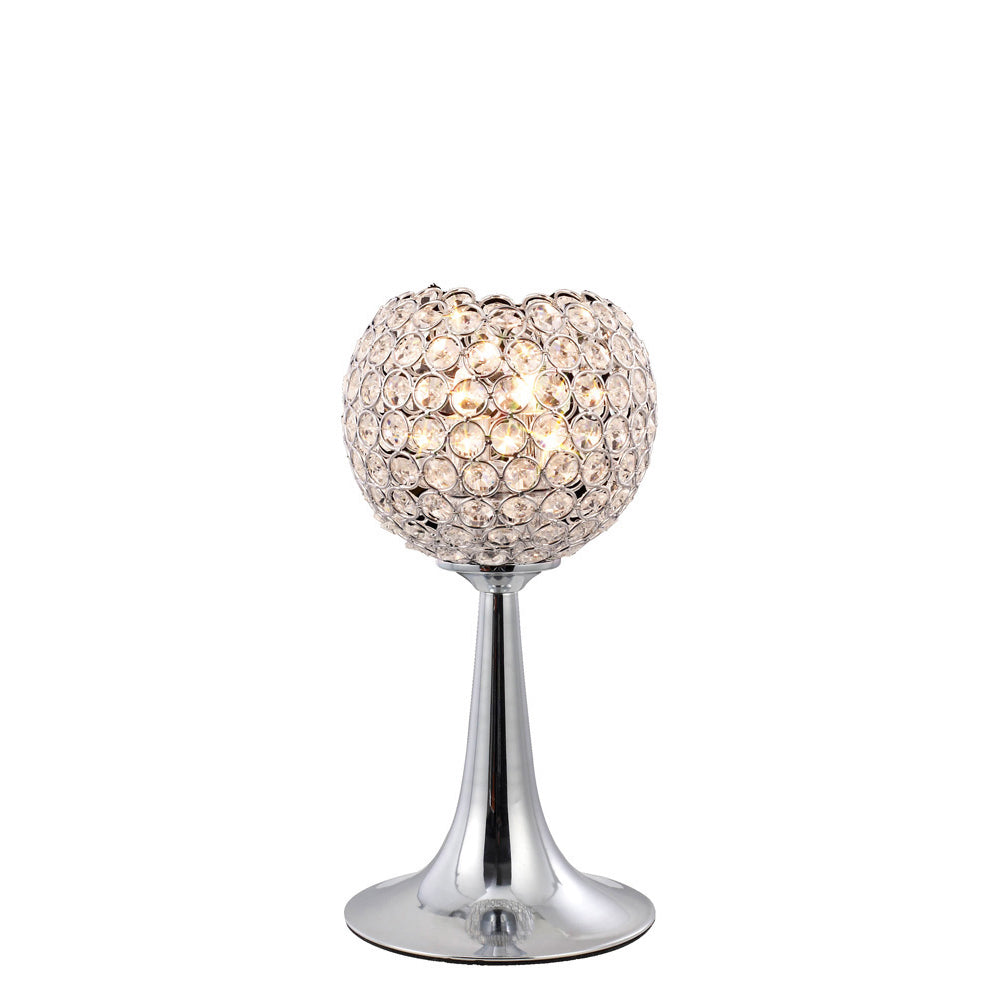 Gray Diyas IL30193 Ava Table Lamp 2 Light Polished Chrome/Crystal diyas-il30193-ava-table-lamp-2-light-polished-chrome-crystal Ava