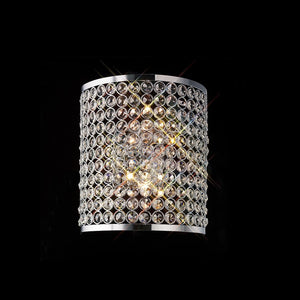 Rosy Brown Diyas IL30199 Ava Rectangle Wall Lamp 2 Light Polished Chrome/Crystal