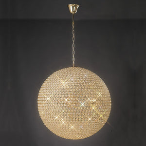 Rosy Brown Diyas IL30750 Ava Pendant 12 Light French Gold/Crystal