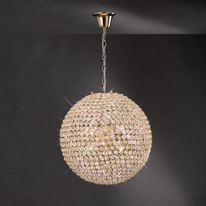 Tan Diyas IL30753 Ava Pendant 7 Light French Gold/Crystal