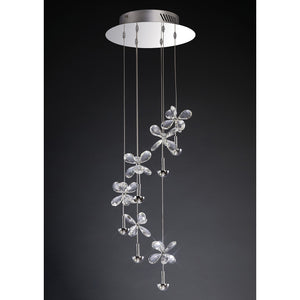 Dark Slate Gray Diyas IL31141 Aviva Pendant 6 Light 4000K LED Polished Chrome/Crystal