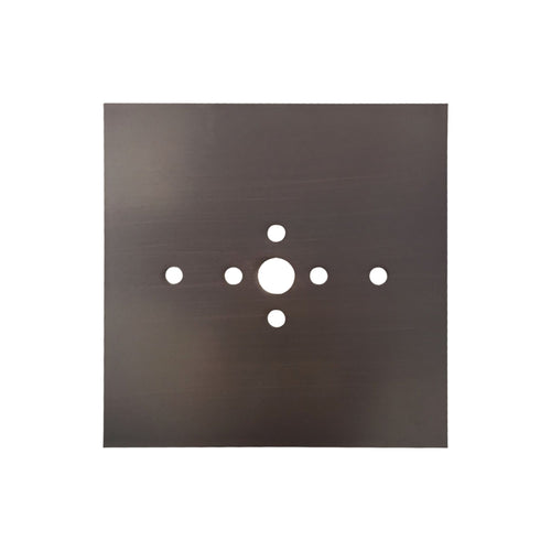 Dark Slate Gray Mantra M5170 Bahia Flush Mount Plate Kit For M5234 / M5236 Satin Nickel mantra-m5170-bahia-flush-mount-plate-kit-for-m5234-m5236-satin-nickel