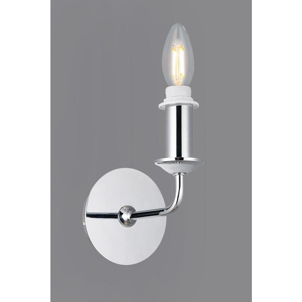 Slate Gray Deco D0360 Banyan 1 Light Switched Wall Lamp Without Shade, E14 Polished Chrome deco-d0360-banyan-1-light-switched-wall-lamp-without-shade-e14-polished-chrome