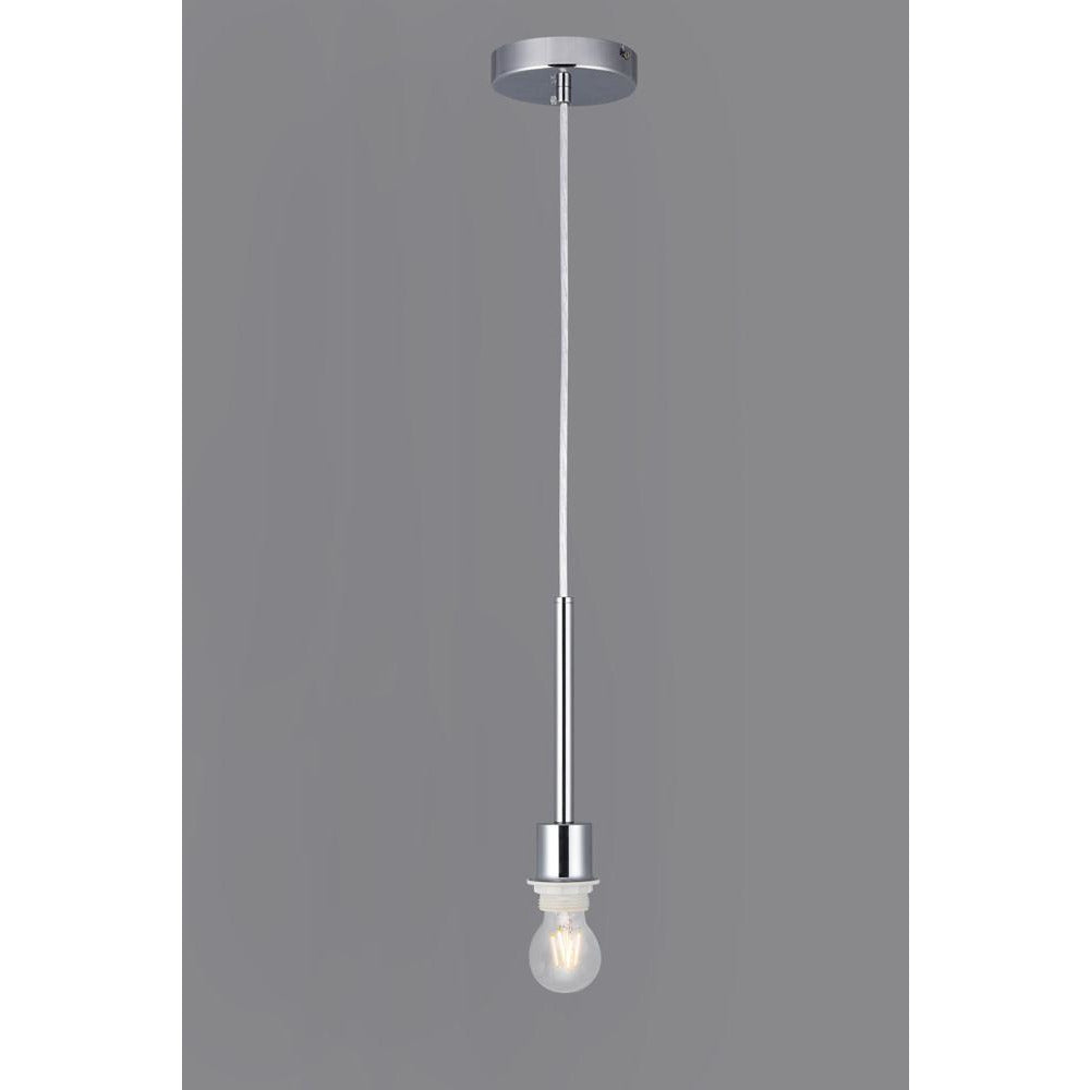 Light Slate Gray Deco D0333 Baymont Polished Chrome 1 Light E27 Universal 3m Single Pendant, Suitable For A Vast Selection Of Shades deco-d0333-baymont-polished-chrome-1-light-e27-universal-3m-single-pendant-suitable-for-a-vast-selection-of-shades