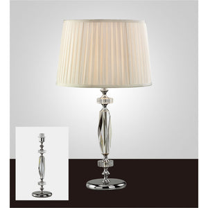 Gray Diyas IL11022 Bella Crystal Table Lamp Without Shade 1 Light Silver Finish
