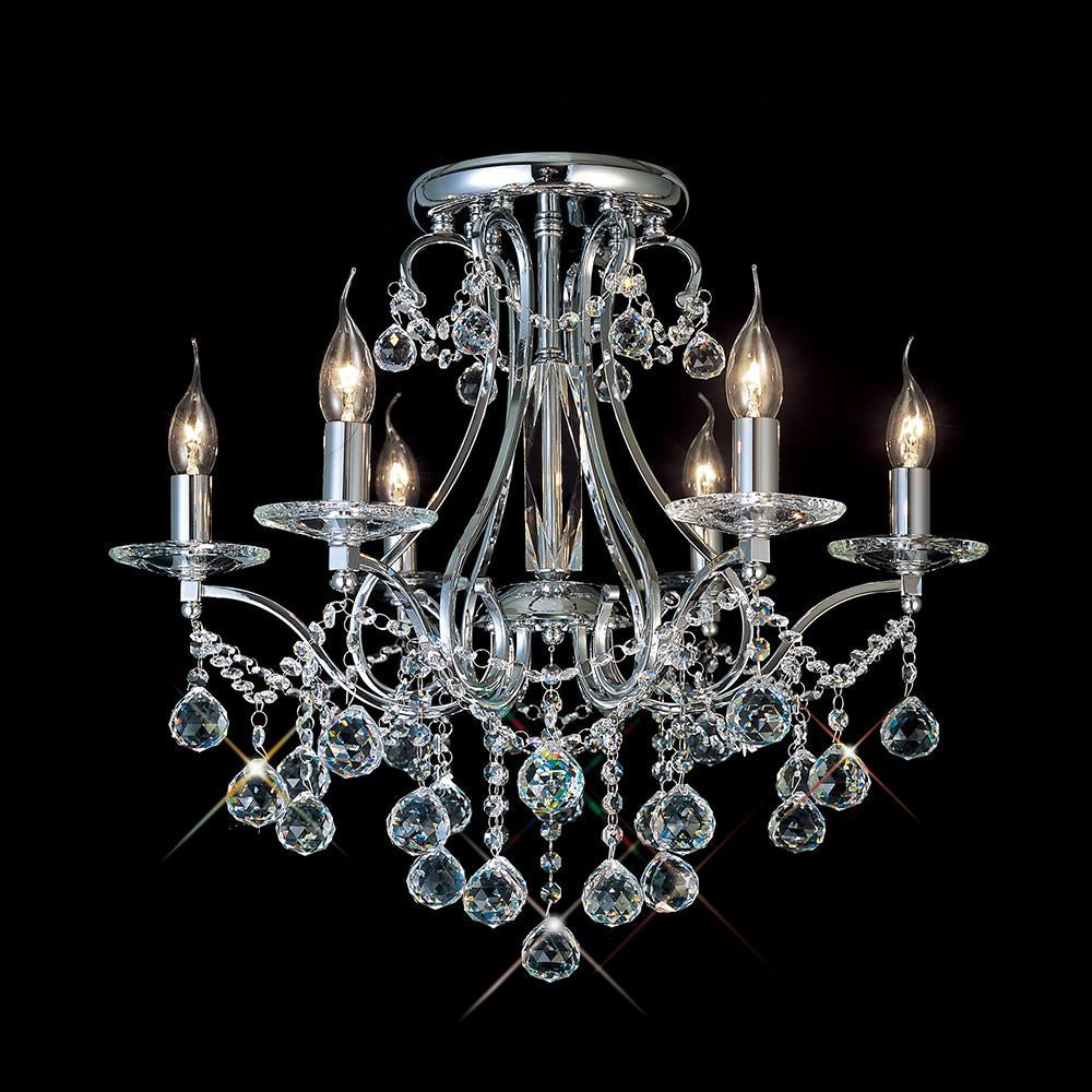 Dim Gray Diyas IL30116 Bianco Ceiling 6 Light Polished Chrome/Crystal diyas-il30116-bianco-ceiling-6-light-polished-chrome-crystal Bianco