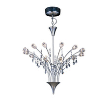Load image into Gallery viewer, White Smoke Diyas IL50030  Bouquet Pendant 18 Light Polished Chrome/Crystal