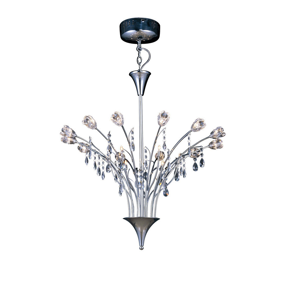 White Smoke Diyas IL50030  Bouquet Pendant 18 Light Polished Chrome/Crystal diyas-il50030-bouquet-pendant-18-light-polished-chrome-crystal Bouquet