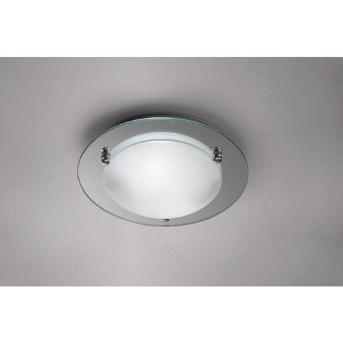 Lavender Deco D0014 Brooklyn Ceiling 300mm Round 2 Light E27 Polished Chrome