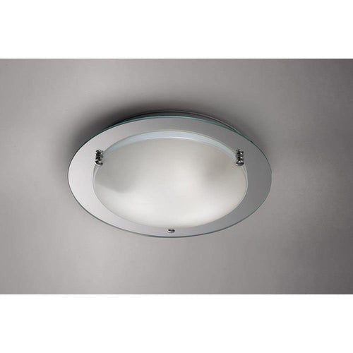 Gray Deco D0015 Brooklyn Ceiling, 400mm Round, 3 Light E27 Polished Chrome