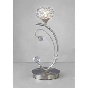 Gray Diyas IL30939 Cara Table Lamp 1 Light Satin Nickel/Crystal diyas-il30939-cara-table-lamp-1-light-satin-nickel-crystal Cara