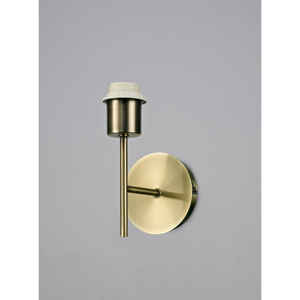 Tan Deco D0370 Carlton 1 Light Unswitched Wall Lamp Without Shade, E27 Antique Brass deco-d0370-carlton-1-light-unswitched-wall-lamp-without-shade-e27-antique-brass
