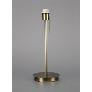 Dark Gray Deco D0373 Carlton Round Flat Base Large Table Lamp Without Shade, Switched Lampholder, 1 Light E27 Antique Brass deco-d0373-carlton-round-flat-base-large-table-lamp-without-shade-switched-lampholder-1-light-e27-antique-brass
