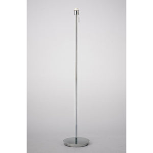 Light Gray Deco D0375 Carlton Round Flat Base Floor Lamp Without Shade, Switched Lampholder, 1 Light E27 Polished Chrome deco-d0375-carlton-round-flat-base-floor-lamp-without-shade-switched-lampholder-1-light-e27-polished-chrome