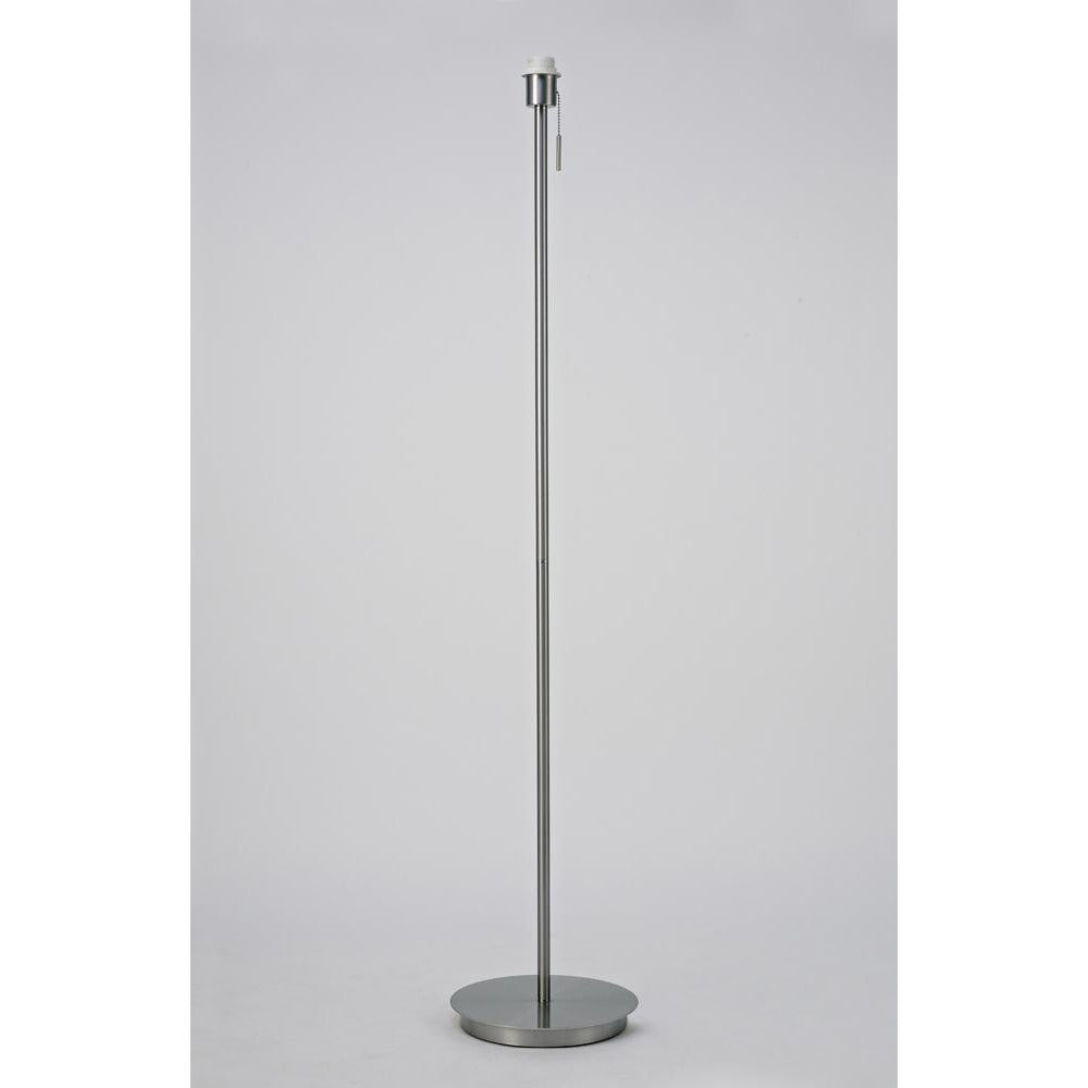 Light Gray Deco D0377 Carlton Round Flat Base Floor Lamp Without Shade, Switched Lampholder, 1 Light E27 Satin Nickel deco-d0377-carlton-round-flat-base-floor-lamp-without-shade-switched-lampholder-1-light-e27-satin-nickel