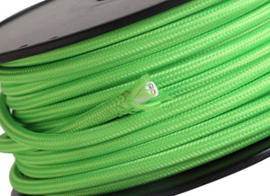 Medium Sea Green Deco D0197 Cavo 1m Green Braided 2 Core 0.75mm Cable VDE Approved deco-d0197-cavo-1m-green-braided-2-core-0-75mm-cable-vde-approved