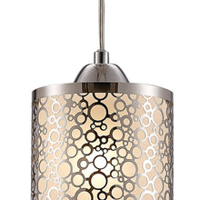 Load image into Gallery viewer, Gray Deco D0133 Charon Single Circle Pattern Pendant 1 Light E27 Polished Chrome deco-d0133-charon-single-circle-pattern-pendant-1-light-e27-polished-chrome
