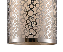 Load image into Gallery viewer, Rosy Brown Deco D0133 Charon Single Circle Pattern Pendant 1 Light E27 Polished Chrome deco-d0133-charon-single-circle-pattern-pendant-1-light-e27-polished-chrome