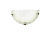 Load image into Gallery viewer, Beige Deco D0391 Chester 1 Light E27 Flush Wall Lamp, Polished Brass With Frosted Alabaster Glass deco-d0391-chester-1-light-e27-flush-wall-lamp-polished-brass-with-frosted-alabaster-glass