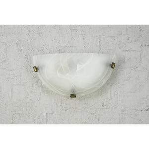 Gray Deco D0391 Chester 1 Light E27 Flush Wall Lamp, Polished Brass With Frosted Alabaster Glass deco-d0391-chester-1-light-e27-flush-wall-lamp-polished-brass-with-frosted-alabaster-glass