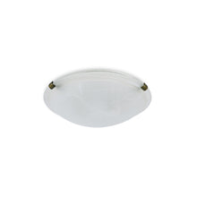 Load image into Gallery viewer, Light Gray Deco D0392 Chester 2 Light E27 Flush Ceiling 300mm Round, Polished Brass With Frosted Alabaster Glass deco-d0392-chester-2-light-e27-flush-ceiling-300mm-round-polished-brass-with-frosted-alabaster-glass