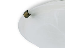 Load image into Gallery viewer, Gray Deco D0392 Chester 2 Light E27 Flush Ceiling 300mm Round, Polished Brass With Frosted Alabaster Glass deco-d0392-chester-2-light-e27-flush-ceiling-300mm-round-polished-brass-with-frosted-alabaster-glass