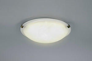Antique White Deco D0392 Chester 2 Light E27 Flush Ceiling 300mm Round, Polished Brass With Frosted Alabaster Glass deco-d0392-chester-2-light-e27-flush-ceiling-300mm-round-polished-brass-with-frosted-alabaster-glass