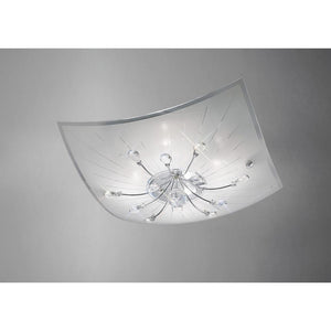Gray Diyas IL31475 Chloe Ceiling 4 Light Polished Chrome/Glass/Crystal