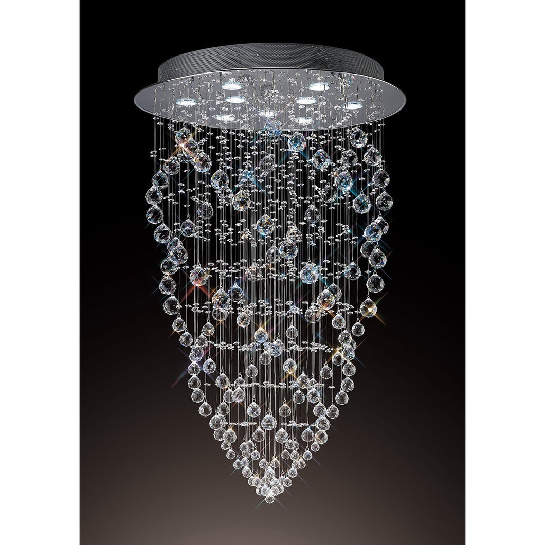 Black Diyas IL31378 Colorado Pendant Cone 9 Light Polished Chrome/Crystal diyas-il31378-colorado-pendant-cone-9-light-polished-chrome-crystal Colorado