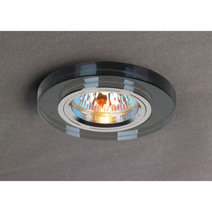 Dim Gray Diyas IL30806BL Crystal Downlight Shallow Round Rim Only Black, IL30800 Required To Complete The Item