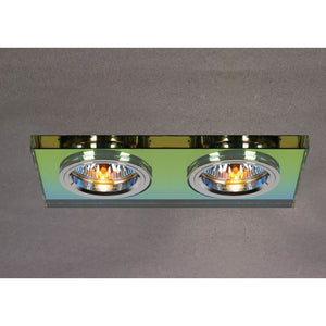 Dark Sea Green Diyas IL30807MC Crystal Dual Head Downlight Rectangle Rim Only Spectrum, IL30800 Required To Complete The Item diyas-il30807mc-crystal-dual-head-downlight-rectangle-rim-only-spectrum-il30800-required-to-complete-the-item Crystal Downlights