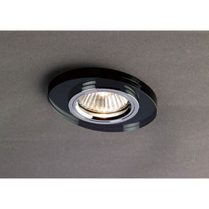 Dim Gray Diyas IL30808BL Crystal Downlight Oval Rim Only Black, IL30800 Required To Complete The Item