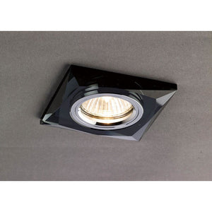 Black Diyas IL30812BL Crystal Downlight Chamfered Square Rim Only Black, IL30800 Required To Complete The Item