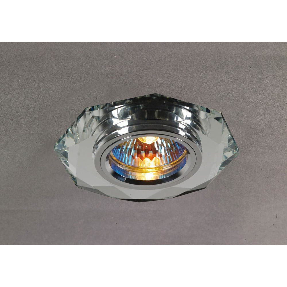 Dim Gray Diyas IL30814CH Crystal Downlight Hexagonal Rim Only Clear, IL30800 Required To Complete The Item