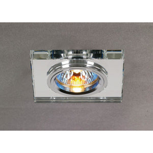Dim Gray Diyas IL30817CH Crystal Downlight Shallow Square Rim Only Clear, IL30800 Required To Complete The Item