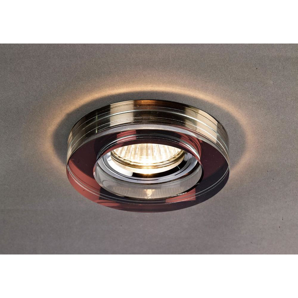 Dim Gray Diyas IL30821PU Crystal Downlight Deep Round Rim Only Purple, IL30800 Required To Complete The Item