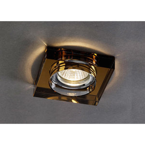Black Diyas IL30822BZ Crystal Downlight Deep Square Rim Only Bronze, IL30800 Required To Complete The Item