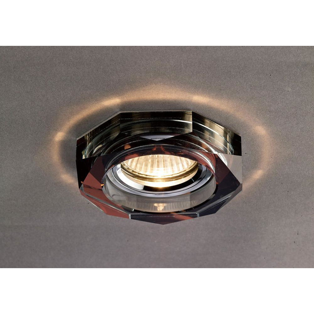 Black Diyas IL30823PU Crystal Downlight Deep Hexagonal Rim Only Purple, IL30800 Required To Complete The Item diyas-il30823pu-crystal-downlight-deep-hexagonal-rim-only-purple-il30800-required-to-complete-the-item Crystal Downlights